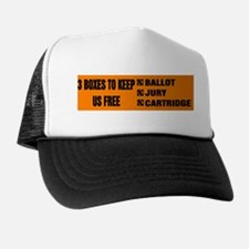 3 BOXES TO KEEP US FREE! Trucker Hat