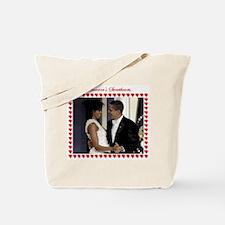 Cute Obama inaugural ball Tote Bag