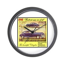"""1946 Chrysler Ad"" Wall Clock"