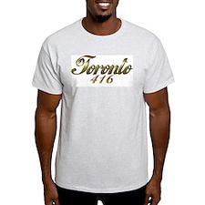 Toronto 416 area code Ash Grey T-Shirt