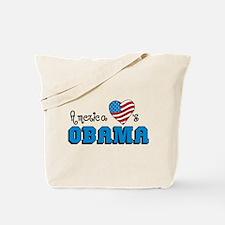 America Loves Obama Tote Bag