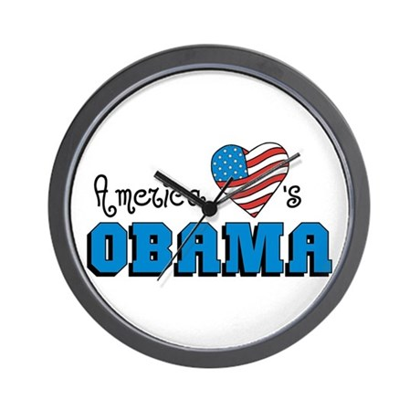 America Loves Obama Wall Clock