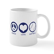 Peace Love Softball Mug