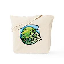 Chubby Green Frog Tote Bag