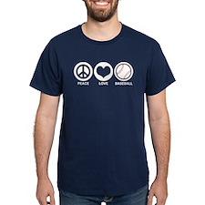 Peace Love Baseball T-Shirt