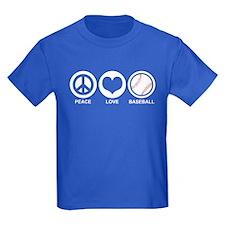 Peace Love Baseball T