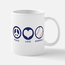 Peace Love Baseball Mug