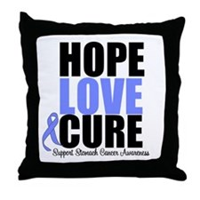 HopeLoveCure Stomach Cancer Throw Pillow