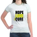 HopeLoveCure Sarcoma Jr. Ringer T-Shirt