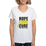 HopeLoveCure Sarcoma Women's V-Neck T-Shirt