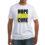 HopeLoveCure Sarcoma Fitted T-Shirt