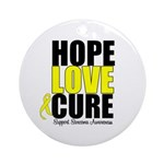 HopeLoveCure Sarcoma Ornament (Round)