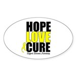 HopeLoveCure Sarcoma Oval Sticker (10 pk)