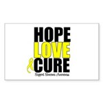 HopeLoveCure Sarcoma Rectangle Sticker 50 pk)