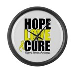 HopeLoveCure Sarcoma Large Wall Clock