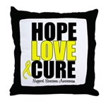 HopeLoveCure Sarcoma Throw Pillow