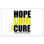 HopeLoveCure Sarcoma Large Poster