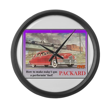 """""""1949 Packard Ad"""" Large Wall Clock"""
