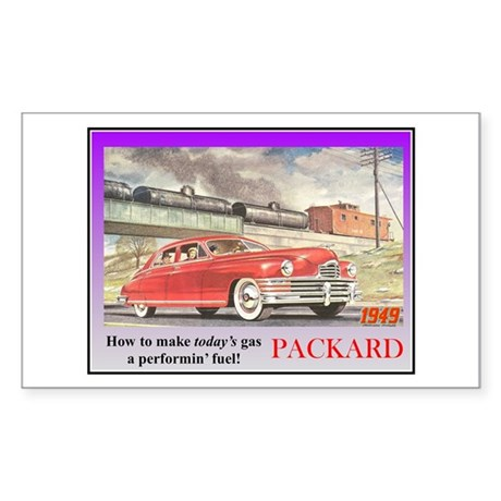 """1949 Packard Ad"" Rectangle Sticker"