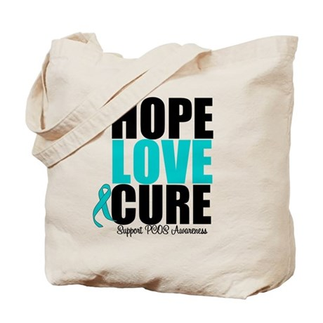 HopeLoveCure PCOS Tote Bag