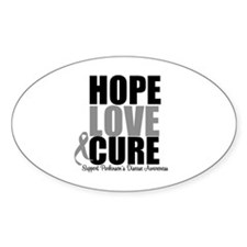 HopeLoveCure Parkinsons Oval Decal