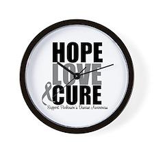 HopeLoveCure Parkinsons Wall Clock