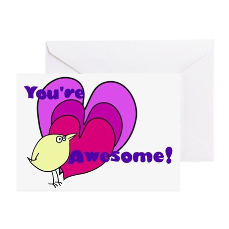 You're Awesome! Birdie Greeting Cards (Pk of 20)