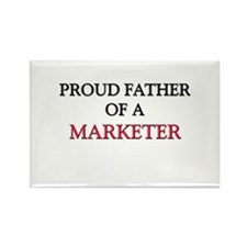 Proud Father Of A MARKETER Rectangle Magnet