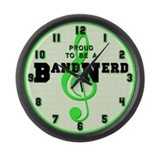 Proud To Be A Band Nerd Large Wall Clock