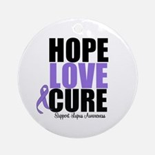 HopeLoveCure Lupus Ornament (Round)
