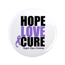 """HopeLoveCure Lupus 3.5"""" Button (100 pack)"""