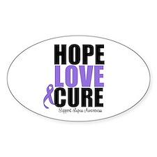 HopeLoveCure Lupus Oval Sticker (10 pk)