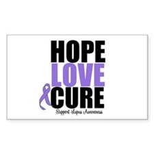 HopeLoveCure Lupus Rectangle Decal