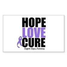 HopeLoveCure Lupus Rectangle Stickers