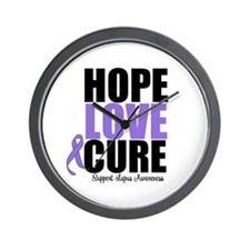 HopeLoveCure Lupus Wall Clock