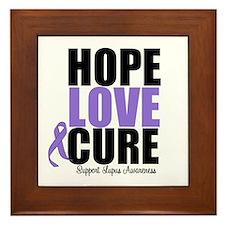 HopeLoveCure Lupus Framed Tile