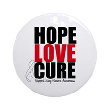 HopeLoveCure LungCancer Ornament (Round)