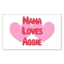 Nana Loves Abbie Rectangle Decal
