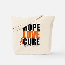 HopeLoveCure Leukemia Tote Bag