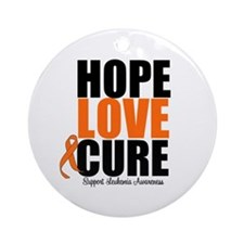 HopeLoveCure Leukemia Ornament (Round)