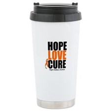 HopeLoveCure Leukemia Travel Mug