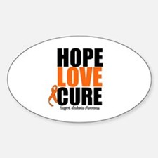 HopeLoveCure Leukemia Oval Decal