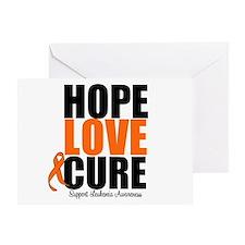 HopeLoveCure Leukemia Greeting Card