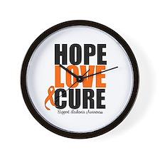 HopeLoveCure Leukemia Wall Clock