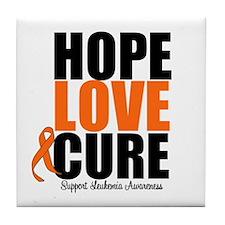 HopeLoveCure Leukemia Tile Coaster