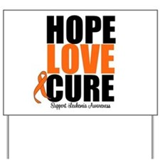 HopeLoveCure Leukemia Yard Sign