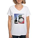 Liberty Flight Pigeon Women's V-Neck T-Shirt
