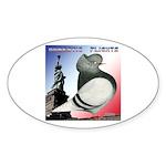 Liberty Flight Pigeon Oval Sticker (10 pk)