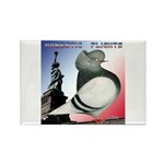 Liberty Flight Pigeon Rectangle Magnet (10 pack)