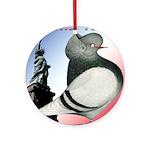Liberty Flight Pigeon Ornament (Round)